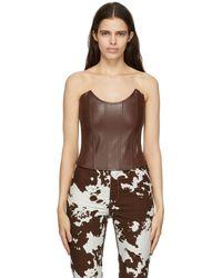 Miaou Corset Leia brun en cuir synthétique - Marron