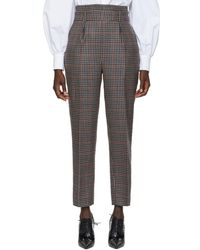 Erdem - Multicolor Check Wool Trousers - Lyst