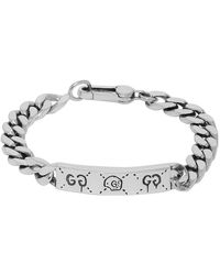 Gucci Silver Ghost Chain Bracelet - Metallic