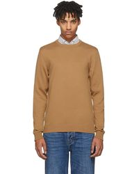 A.P.C. - Tan Mock Neck Pullover - Lyst