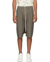 Rick Owens - Grey Ricks Pods Shorts - Lyst