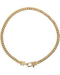 Tom Wood Bracelet doré Curb Chain M - Métallisé