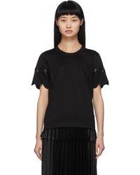 Noir Kei Ninomiya Black Scallop T-shirt