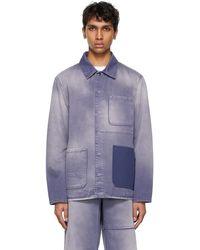 Valentino - Purple Denim Shaded Jacket - Lyst