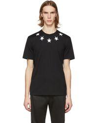 Givenchy - ブラック And ホワイト ビンテージ スター T シャツ - Lyst