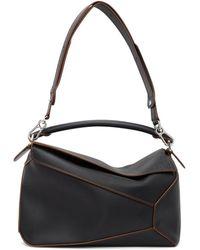 Loewe Black Large Puzzle Bag