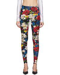 Versace Ssense Exclusive Multicolor Floral Leggings