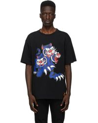 KENZO Kansai Yamamoto Edition ブラック Seasonal ロゴ Tiger T シャツ