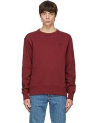 Acne Studios Red Patch Sweatshirt