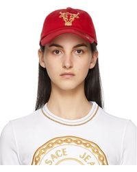 Versace Jeans Couture - Casquette Baroque Bull rouge - Lyst