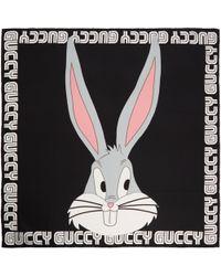 Gucci | Black Guccy Bugs Bunny Scarf | Lyst