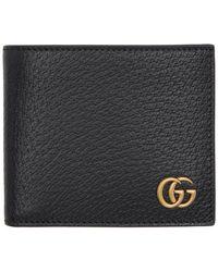 Gucci GG Marmont Leather Bi-fold Wallet - Black