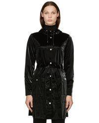 Rains Curve コート - ブラック