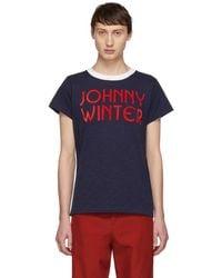 Acne Studios Navy Bla Konst Johnny Winter T-shirt - Blue