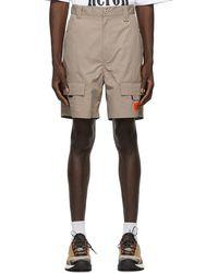 Heron Preston Taupe Cargo Shorts - Multicolour