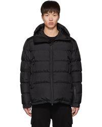 3 MONCLER GRENOBLE Black Down Isorno Puffer Jacket