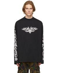 Vetements Black Gothic Logo Long Sleeve T-shirt