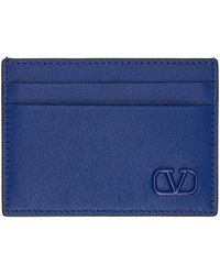 Valentino Garavani - コレクション ブルー Vlogo シグネチャ カード ケース - Lyst