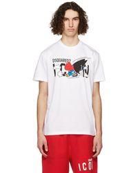 DSquared² - White 'icon' Super T-shirt - Lyst