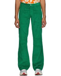 ERL Pantalon en velours côtelé vert