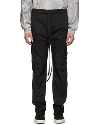 Fear Of God Pantalon cargo en nylon noir