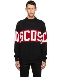 Gcds ブラック & レッド ロゴ セーター