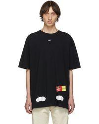 Off-White c/o Virgil Abloh Ssense Exclusive Black Incomplete Spray Paint T-shirt