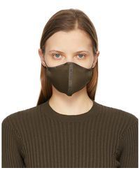 Tom Ford グリーン ロゴ フェイス マスク - マルチカラー