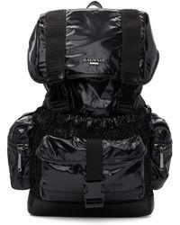 Balmain - Black Elite Shiny Nylon Backpack - Lyst