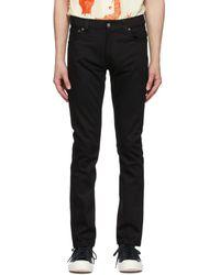 Nudie Jeans ブラック Thin Finn Dry ジーンズ