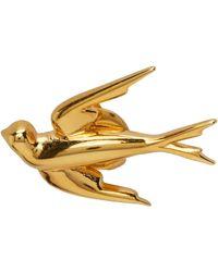 McQ Gold Mcq Swallow Earrings - Metallic