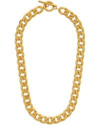 All_blues Gold Polished Moto Necklace - Metallic