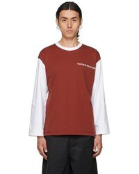 Youths in Balaclava White & Red Logo Long Sleeve T-shirt