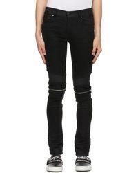 Amiri Black Mx2 Waxed Jeans