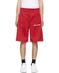 40a5cd2d0d Palm Angels Rage Printed Ecru Jersey Shorts in White for Men - Lyst