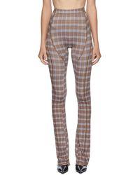 CHARLOTTE KNOWLES Pantalon brun Truss exclusif a SSENSE - Marron