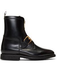 Thom Browne ブラック アンクル ハンティング ブーツ