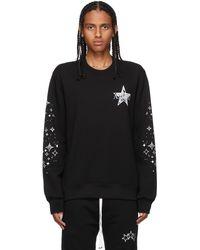 Amiri ブラック Paisley Star スウェットシャツ