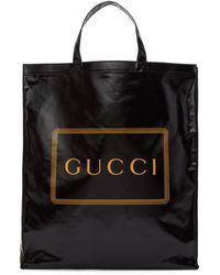 Gucci Logo Tote Bag - Black