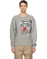 KENZO Kansai Yamamoto エディション グレー Embroidered セーター