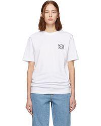 Loewe - White Anagram T-shirt - Lyst
