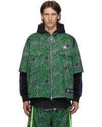 Sankuanz Adidas Originals Edition リバーシブル ブラック And グリーン シャツ フーディ