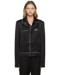 Amiri Pyjama Jacket - Black