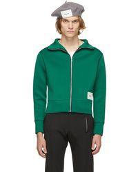 Daniel W. Fletcher Pull vert en jersey à glissière