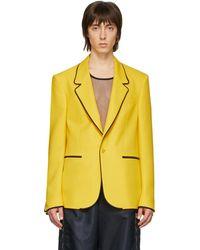 Random Identities Yellow Sister Blazer