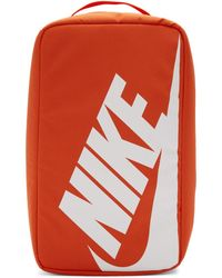 Nike オレンジ ナイロン シュー ボックス バッグ