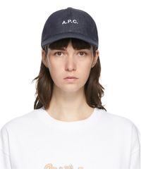 A.P.C. Indigo Charlie Cap - Multicolor