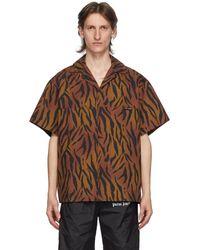 Palm Angels - ブラウン And ブラック Tiger ボウリング シャツ - Lyst
