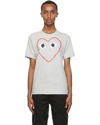 COMME DES GARÇONS PLAY Gray Big Heart T-shirt