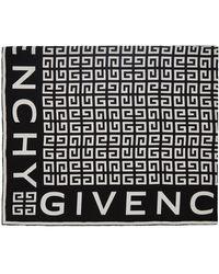 Givenchy ブラック & ホワイト シルク 4g スカーフ
